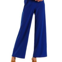 Solid High-Waisted Palazzo Pants by Charlotte Russe
