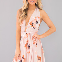 This Love Is For Real Floral Dress Blush