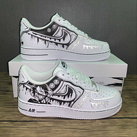 Morechoice Tuhy Nike Air Force 1 Low Sneakers Reflective Casual Skaet Shoes Cw2288-301 Luffy