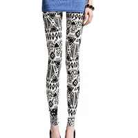 Geometrical Pattern Print Leggings