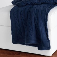 Cable Knit Decorative Throw - Throws & Blankets - Bed Linens - Linens & Fabrics | HomeDecorators.com