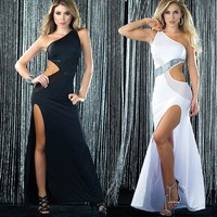 On Sale Sexy Cute Hot Deal Club One Shoulder Ball Gown Exotic Lingerie [6595696003]