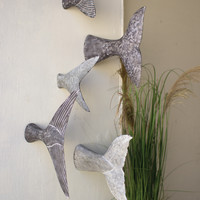 Set of 5 Fish Tale Wall Sculptures