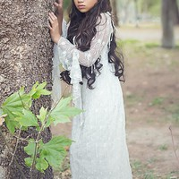 """Keira"" Bohemian lace dress-bridal-photo prop-wedding"
