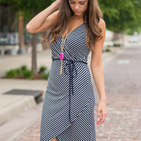 Fitting Fun Dress, Navy