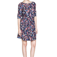 Floral Dress with Half Sleeve