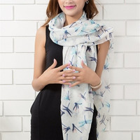 2015 Women's fashion long big wraps dragonfly scarf soft hot new autumn winter scarves = 1958206852