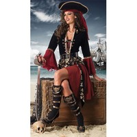 Adult Halloween costume masquerade performances Pirates of the Caribbean pirate captain cos [8979070023]