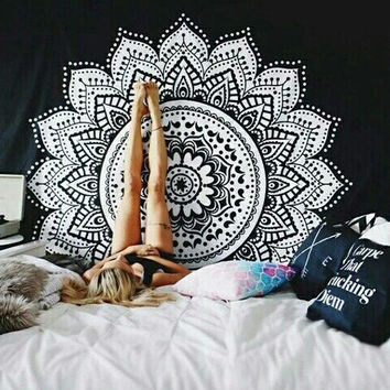 New printed tapestry elephant mandala tapestry wall hanging wall tapestry for wall decoration hippie tapestry beach towels