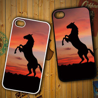 Horse Silhouette On Red Sunset Y1880LG G2 G3, Nexus 4 5, Xperia Z2, iPhone 4S 5S 5C 6 6 Plus, iPod 4 5 Case