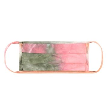 Coral/Moss Tie Dye 3-D Face Mask - Covid 19