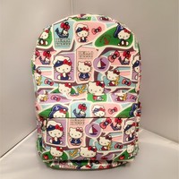Hello Kitty navy hello Kitty cute cartoon KT cat canvas backpack bag of primary and middle school students