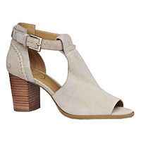 Cameron Suede Open Toe Bootie in Dove Grey by Jack Rogers
