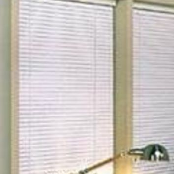 Achim Home Furnishings 1-Inch Wide Window Blinds, 28 by 64-Inch, White