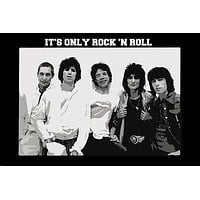 ROLLING STONES IT'S ONLY ROCK AND ROLL POSTER b/w entire band music 24X36