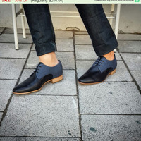 Sale - 30% Off - Flat Shoes - Mens Shoes - black Derby shoes - black shoes - mens Derby shoes - mens dress shoes - leather shoes