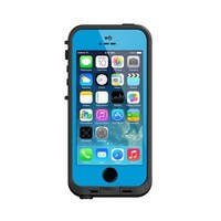 LifeProof FRE iPhone 5/5s Waterproof Case - Retail Packaging - CYAN/BLACK