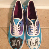 The Fault in Our Stars Galaxy Hand Pained Shoes