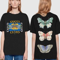 Gucci Dragonfly Butterfly Print T-shirt