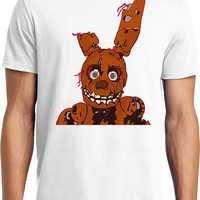 Rock Heavy Metal   At  SpringTrap Freddy Adult T-Shirt S-6XL Funny Cotton Short Sleeve Shirts For Men