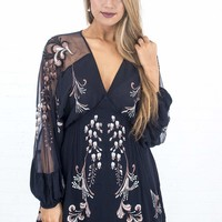 Women's Free People Bonjour Embroidered Mini Dress