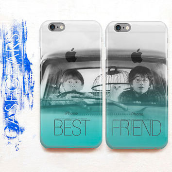 BFF Best Friend Phone Case Set iPhone 6 Case Couple iPhone 6s Case Double Harry Potter Phone Case Galaxy S6 Edge Galaxy S7 Phone Case CGCC14