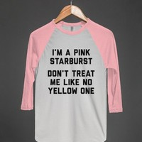 White/Neon Heather Pink T-Shirt | Cute Funny Shirts
