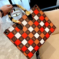 LV Plaid Women's Tote Bag Shopping Bag Shoulder Bag
