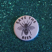 "save the bees pin | 1.25"" pinback button"