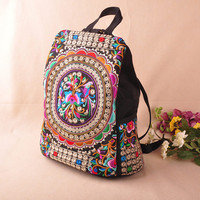 Trendy Embroidery Ethnic Patterned Backpack for Women