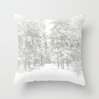 Winter tale Throw Pillow by Armine Nersisyan | Society6