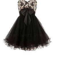 Charming Sweetheart Strapless Embellished Prom Dresses