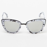 Quay My Girl Cat-Eye White & Silver Sunglasses at PacSun.com
