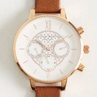 Key to Punctuality Watch in Caramel & Rose Gold