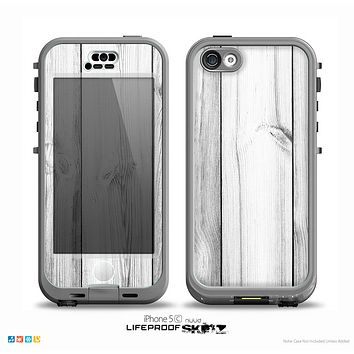 The White & Gray Wood Planks Skin for the iPhone 5c nüüd LifeProof Case