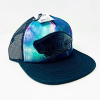 Vans Off The Wall Black Galaxy Mesh Adjustable Snapback Cap
