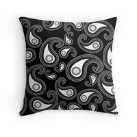 'Invert paisley pattern ' Throw Pillow by adiosmillet