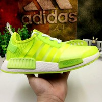 """ADIDAS""NMD Trending Fashion Gauze Casual Sports Shoes Fluorescent green G-MDTY-SHINING"