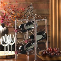 Rustic Iron Circles Counter-top Bottle Rack