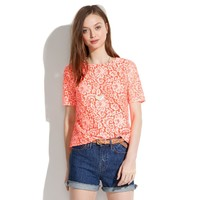 Lace Blossom Top - blouses - Women's SHIRTS & TOPS - Madewell
