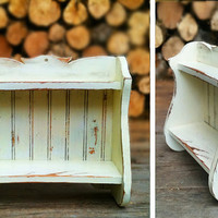 Distressed Wood Shelves  Shabby Chic by Pollygots on Etsy