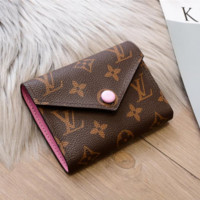 LV Women Leather Wallet