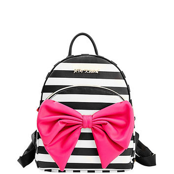 betsey Johnson black//brown fox with bowtie backpack 9X6X3 in