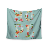"""Suzanne Carter """"Hope"""" Green Floral Wall Tapestry"""