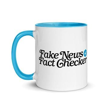 Fake News Fact Checker Mug
