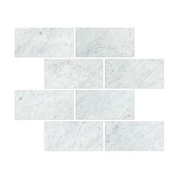 12 X 24 Carrara White Marble Honed Field Tile