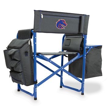 Boise State Broncos - Fusion Backpack Chair with Cooler, (Dark Gray with Blue Accents)