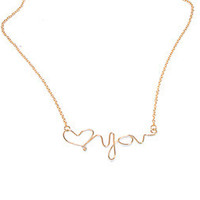 Heart You Necklace
