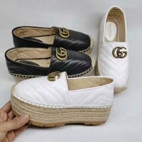 Gucci Genuine Leather 2019 Women Fashion Casual Pant Shoes