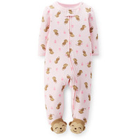 Walmart: Child of Mine by Carter's Newborn Baby Girl Zip Front Sleep n Play